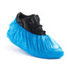 disposable overshoes in blue