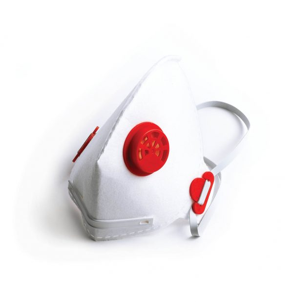 white asbestos safety mask